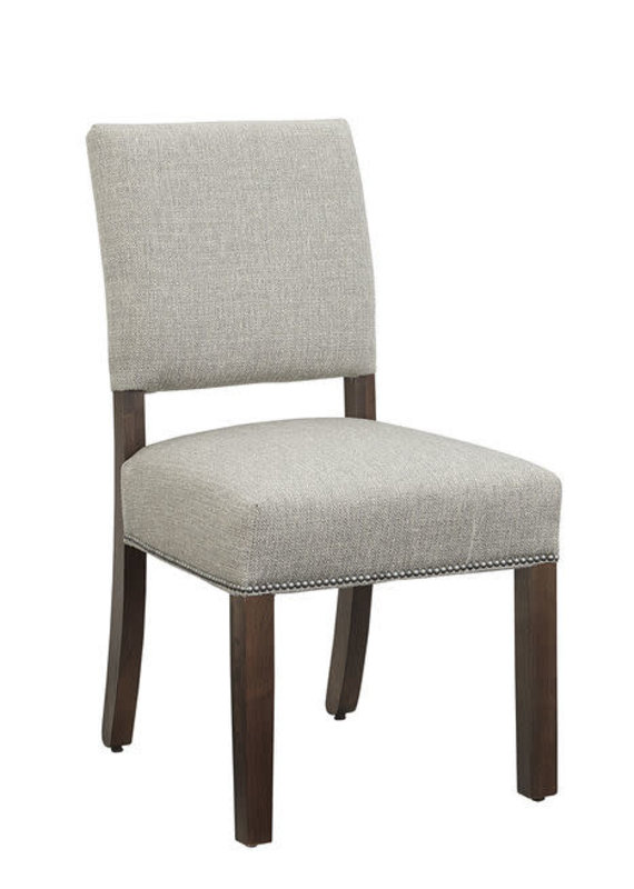 Vaughan Bassett Simply Dining  Upholstered Side Chair (Dark Maple)