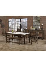 Vaughan Bassett Vaughan Bassett Artisan & Post Simply Dining Roll Top Side Chair in Dark Maple (220-040)