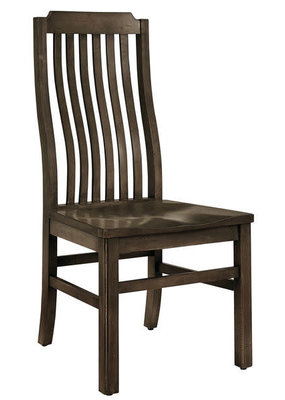 Vaughan Bassett Simply Dining Vertical Slat Side Chair (Dark Maple)