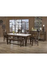 Vaughan Bassett Vaughan Bassett Artisan & Post Simply Dining Vertical Slat Arm Chair in Dark Maple (220-011)