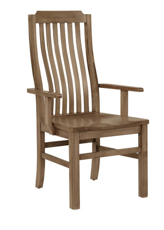 Vaughan Bassett Simply Dining Vertical Slat Arm Chair (Natural Maple)
