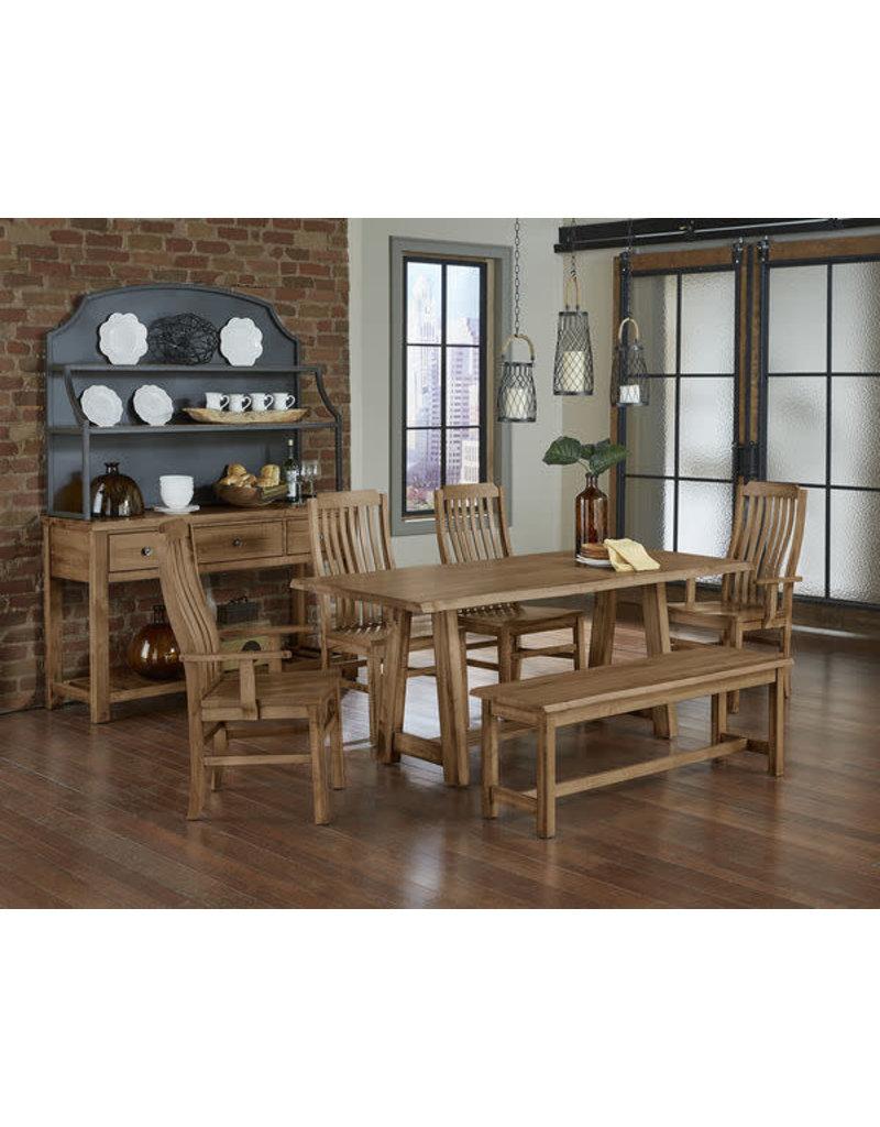 Vaughan Bassett Vaughan Bassett Artisan & Post Simply Dining Vertical Slat Arm Chair in Natural Maple (224-011)