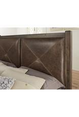 Vaughan Bassett Vaughan Bassett Artisan & Post Cool Rustic Leather Headboard in Mink (170-669)