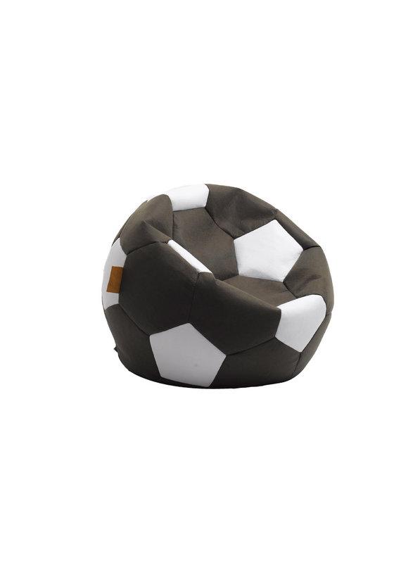 Calcio Black Soccer Ball Bean Bag