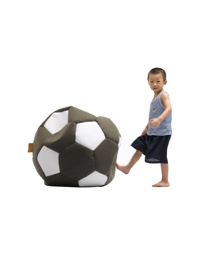 Lazy-Life Paris Calcio Black Soccer Ball Bean Bag