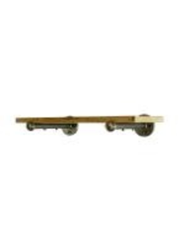 Somerville Shelf (Brushed Brass and Gray Steel)