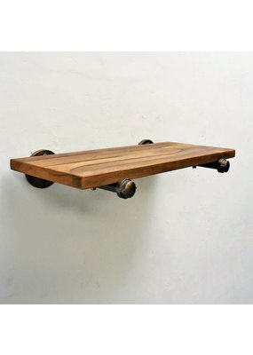 Somerville Shelf (Rustic Bronze with Light Brown Stain)