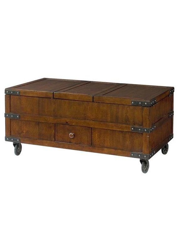 Hidden Treasures Trunk Cocktail Table w/ Storage (090-394)