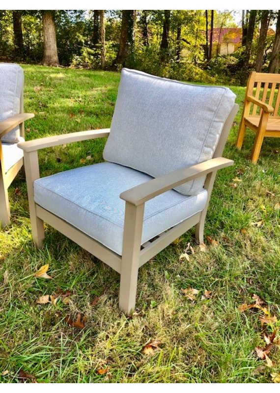 Gray Outdoor Chair w/ 2 Cushions