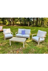 Hoang Hung Co. Gray Outdoor Chair w/ 2 Cushions