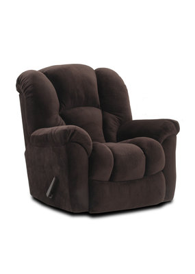 HomeStretch Large Scale Manual Rocker Recliner ( Chocolate Brown)