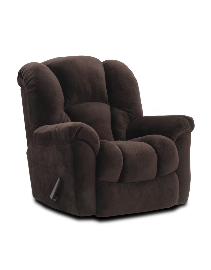 HomeStretchLarge Scale Manual Rocker Recliner in  Chocolate Brown (116-91-20)