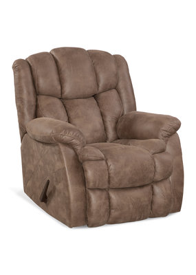 Microfiber Manual Rocker Recliner (Medium Brown)