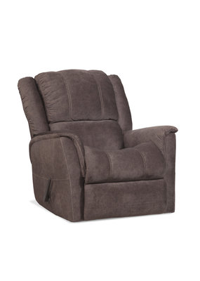 Microfiber Manual Rocker Recliner (Brown)