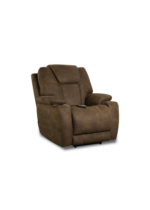 Triple Power Heat/Cool Recliner (Pebble Brown)
