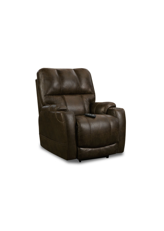 Microfiber Triple Power Heat/Cool Wallsaver Recliner (Brown)