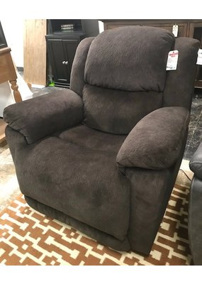 Double Power Rocker Recliner in Holey Chocolate