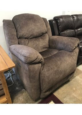 Double Power Rocker Recliner in Medium Brown