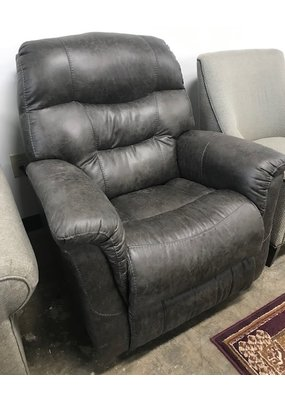 Power Rocker Recliner in Grey Faux Leather