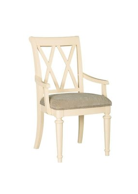 American Drew Camden Upholstered Arm Chair (Buttermilk)