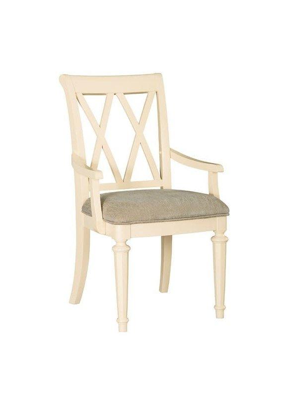American Drew Camden Upholstered Arm Chair (Buttermilk)