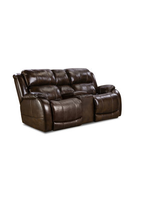 HomeStretch Double Rocking Reclining Loveseat