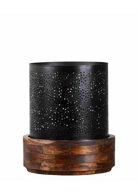 Manado Hurricane Large Candle Holder (Antique Black)
