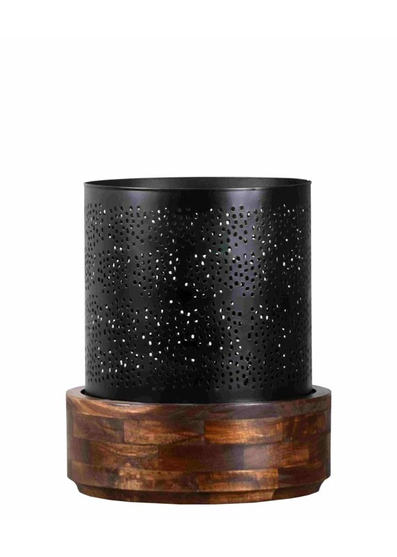 Manado Hurricane Large Candle Holder (Antique Black)