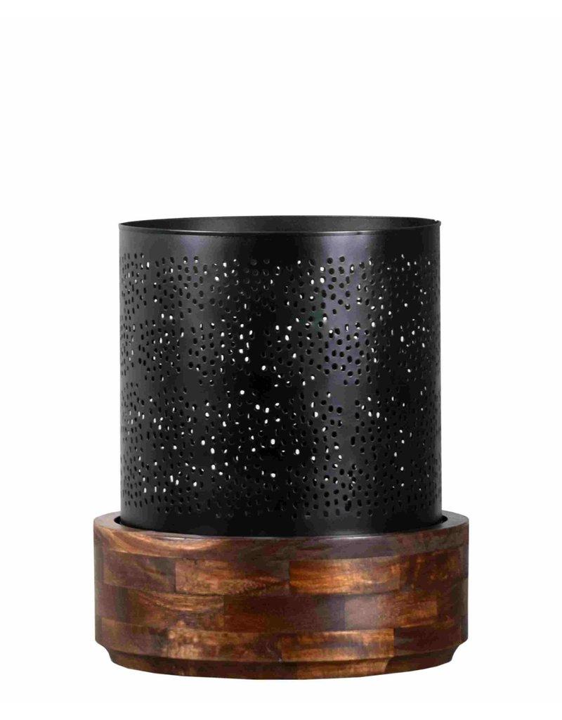 Villa 2 Manado Hurricane Large Candle Holder in Antique Black (66195720L)