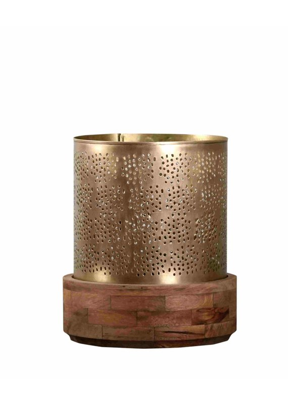 Manado Hurricane Large Candle Holder (Antique Gold)