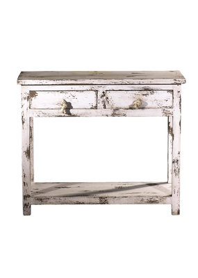 2 Drawer Accent Table (Antique White)
