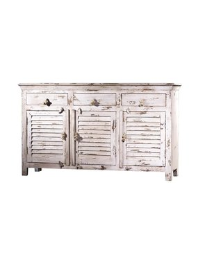 Shutter Wood Sideboard (Antique White)