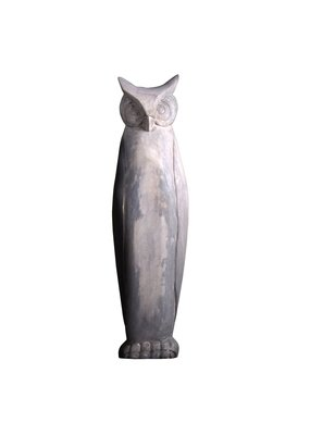 Large Wooden Owl (Antique White)