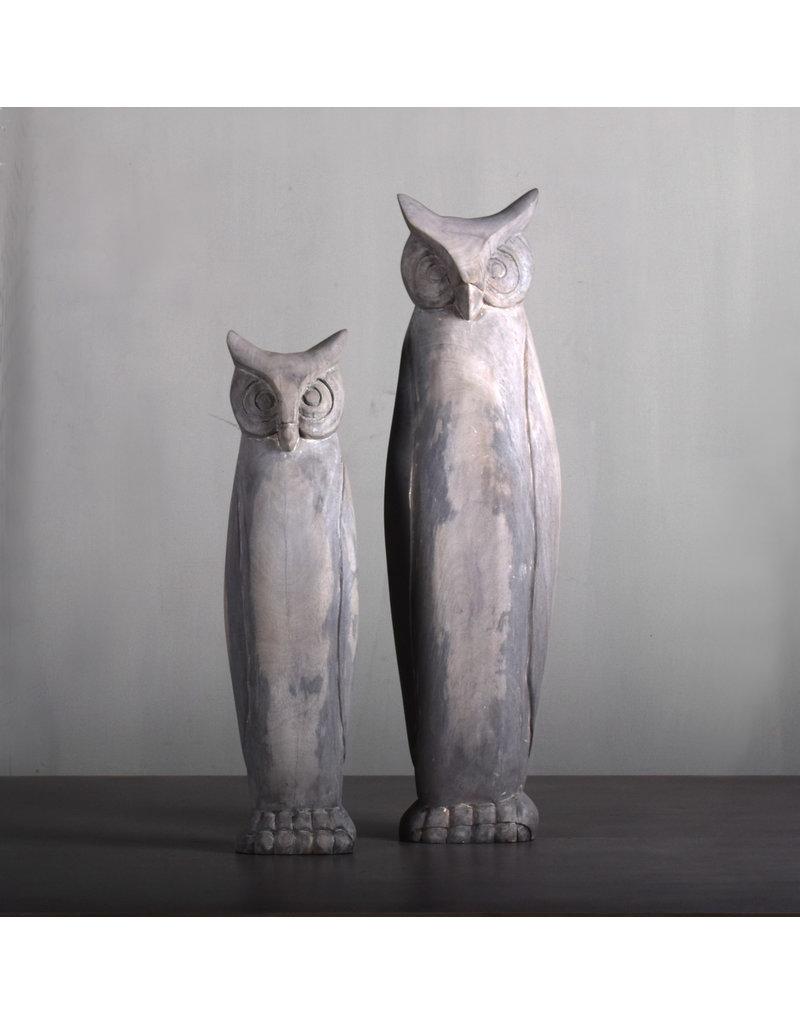 Villa 2 Gray Barn Medium Wooden Owl (66150M22)