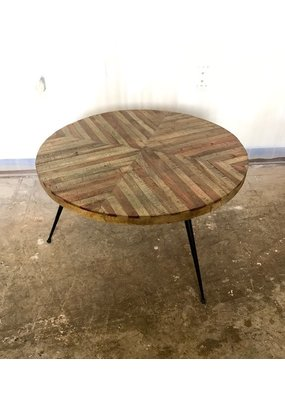 Stripe Round Cocktail Table