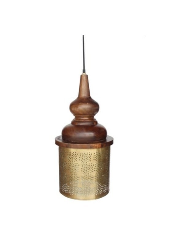 Large Celestial Brass Pendant