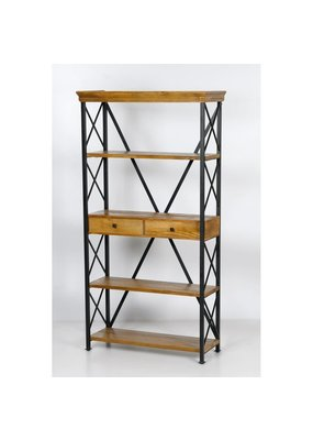 Dakota Tall Metal Etagere Bookshelf