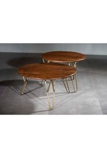 Villa 2 Nepal Round Accent Table with Retro Legs (99195076A)