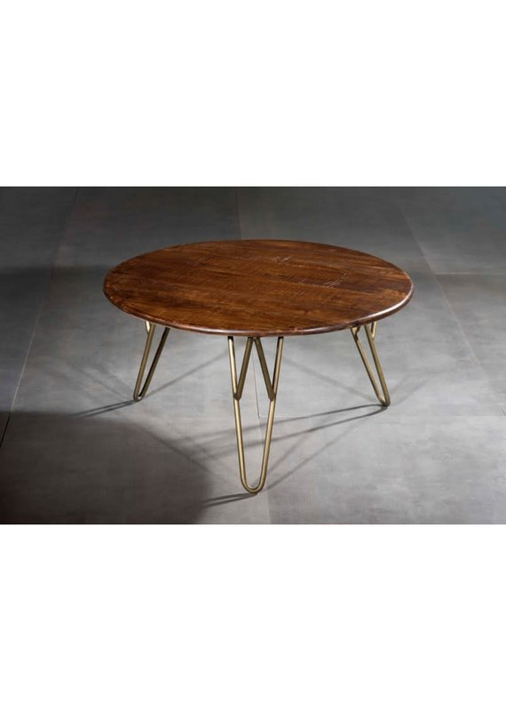 Nepal Large Round Cocktail Table with Retro Legs (99195076L)