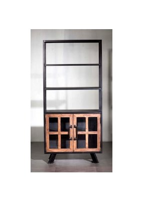 Roma Triple Shelf Double Cabinet Bookshelf
