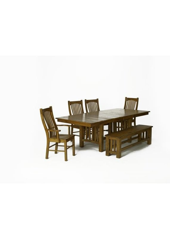 A-America Laurelhurst Trestle Dining Table (Rustic Oak)