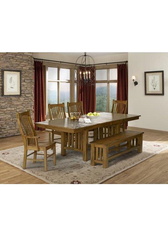 A-America Laurelhurst Trestle Dining Table (Rustic Oak)