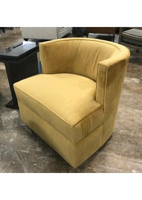 Stone & Leigh Olivia Swivel Chair in Gold