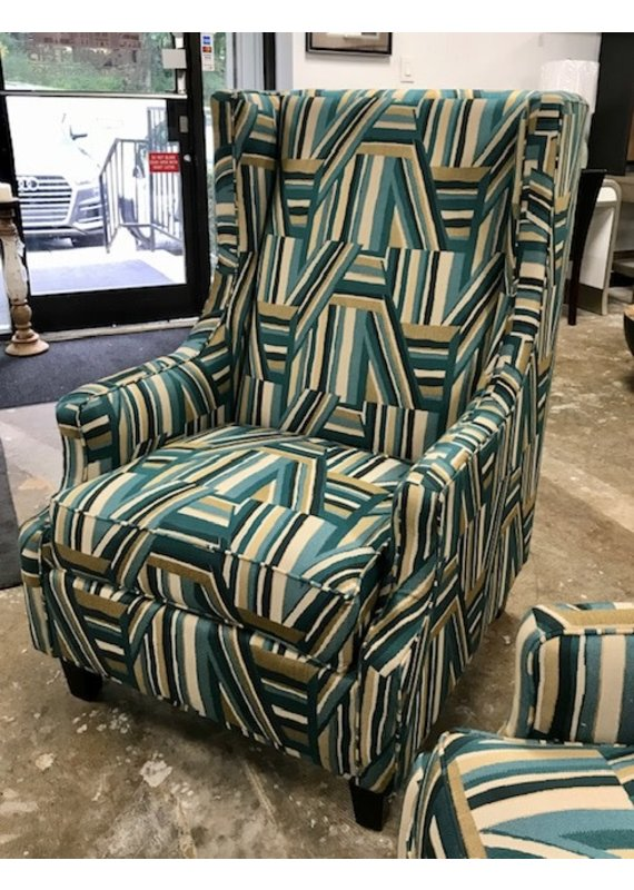 Furnish This Soca Wingback Chairs (Carnival Evergreen)