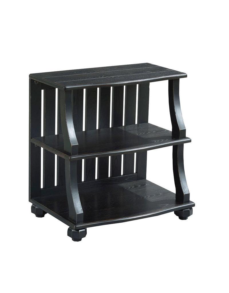 Hammary Hammary Elm Ridge Open Chairside Table in Black (504-914B)