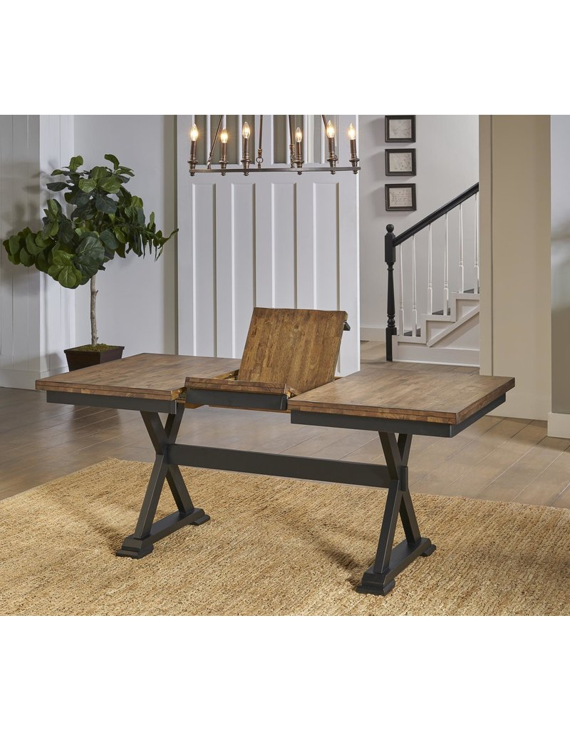 A-America A-America Stone Creek 6pc Trestle Dining Table Set (4 chairs & bench)