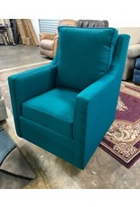 Carolina Classic Furniture Oakley Swivel Glider chair in Crypton Sky Prussian