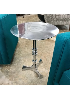 Pasha Home Aluminum Round End Table