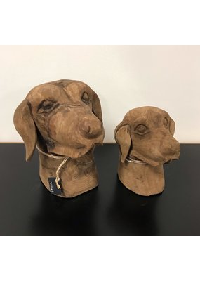 Wooden Pair of Dog Faces