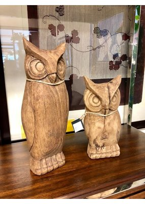 Wooden Pair of Owls